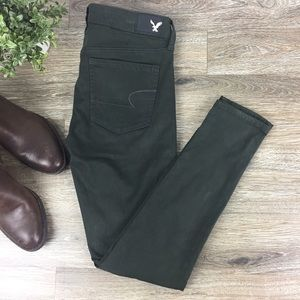 American Eagle | NWT Sateen Jegging Green